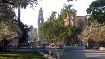 Balboa Park in San Diego mit dem Glockenturm im Hintergrund. (c) Ulrich Pfaffenberger