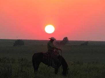 Stilleben mit Cowboy und Pferd in den Flint Hills von Kansas. (c) www.travelksok.de