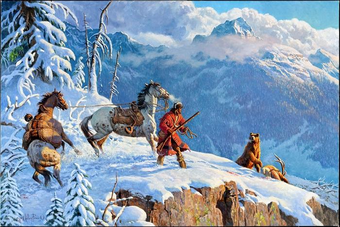 """""""Time of Survival"""" ist der Titel dieses Gemäldes aus der Ausstellung """"Cowboy Crossings"""" in Oklahoma City. (c) Travel KSOK"""